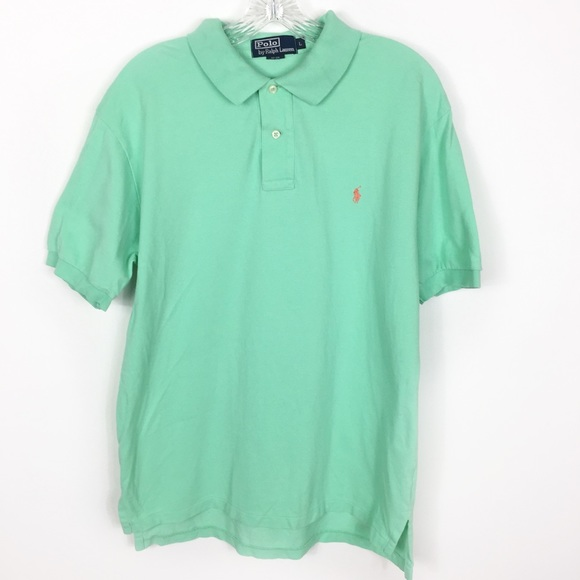Polo By Ralph Lauren Shirts Polo Ralph Lauren Green Pony Logo Polo